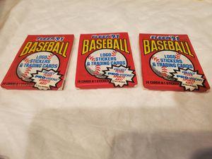 3 new packs Fleers 1991 for Sale in Simpsonville, SC