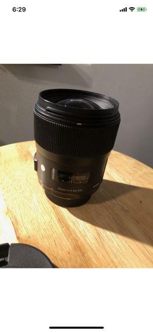 Nikon Sigma 35mm f. 1.4 for Sale in Dover, DE