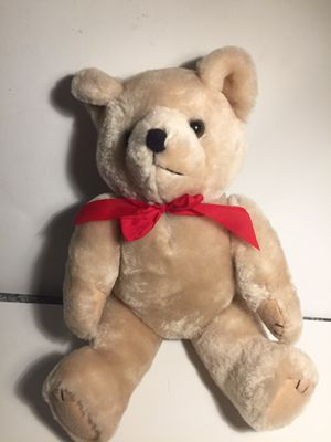 Large stuffed teddy bear with red bow for Sale in San Leandro, CA