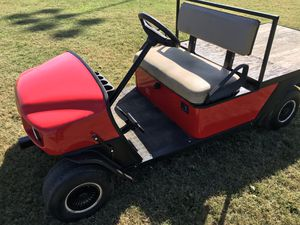 Gas powered ezgo workhorse golf cart with rare flatbed option for Sale in Corona, CA