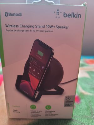Wireless charging stand plus speaker for Sale in Seattle, WA