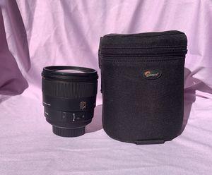 Sigma 85mm f/1.4 EX DG HSM Large Aperture Medium Telephoto Prime Lens for Nikon Digital SLR Cameras for Sale in Miramar, FL