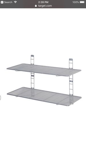 Seville Classics 2 tier mesh wall shelves for Sale in Portland, OR