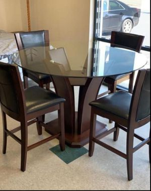 🍻39 DOWN🍻Brand New 5-Piece Espresso Round Counter Height Set.[ Table & 4 Chairs ] for Sale in Houston, TX