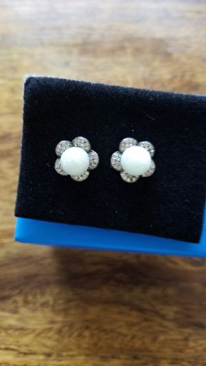 Earnings silver and jade for Sale in Boca Raton, FL