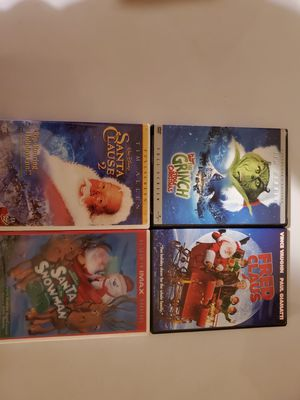 Dr Seuss How the Grinch Stole Christmas DVD Movie, Santa Claus 2 DVD, Fred Claus DVD, Santa VS. The Snowman 3D DVD for Sale in Lewisville, TX