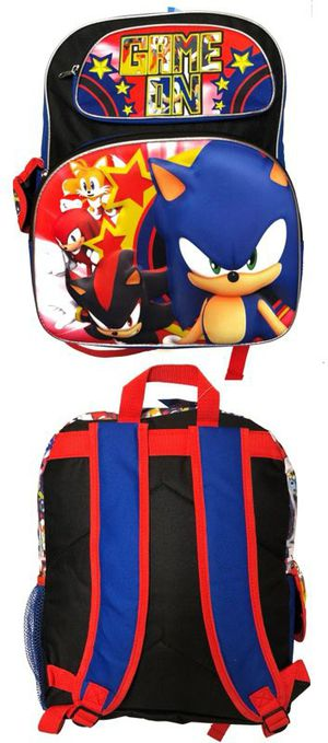 Brand NEW! 3D Sonic The Hedgehog Backpack For School/Traveling/Everyday Use/Birthday Gifts $23 for Sale in Carson, CA