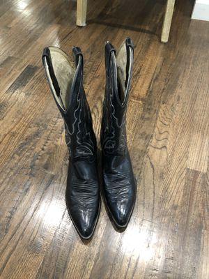 Diamond J Men's leather boots. Size 9D for Sale in Dallas, TX