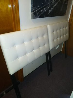 2 TWIN HEADBOARDS..WHITE VINYL.LIKE NEW!! BOTH FOR $50 for Sale in Pawtucket, RI