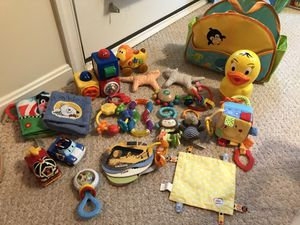 Baby toys and diaper caddy for Sale in Edgewater, MD