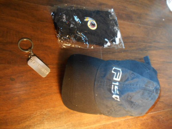 Ford F-150 cap and key chains w/ Redskins smart touch gloves
