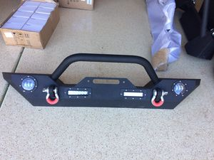 New Jeep Wrangler front bumper with LEDs and winch plate for Sale in Scottsdale, AZ