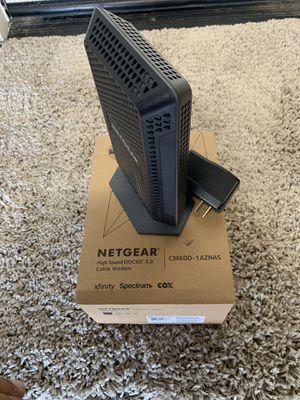 Netgear cm600 cable modem for Sale in Manteca, CA