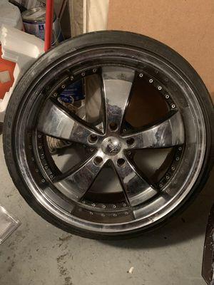 SET of Chrome 5Lug Rims w Tires for Sale in Orlando, FL