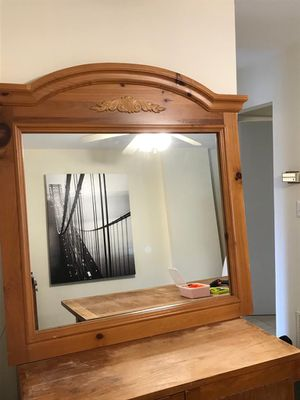 Solid wood frame, mirror for Sale in Germantown, MD