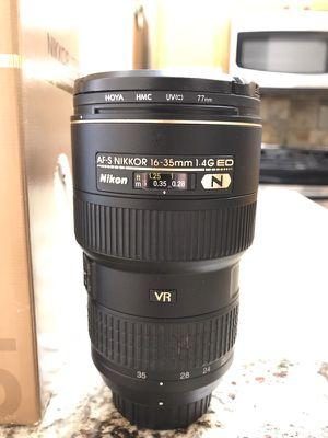 Nikon 16-35mm f/4G ED VR AF-S wide angle zoom lens for Sale in Austin, TX