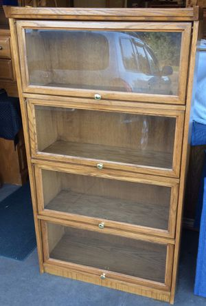 4 Tier Oak Barrister Bookcase / Bookshelf / Storage Display Shelves for Sale in Lakeville, MN