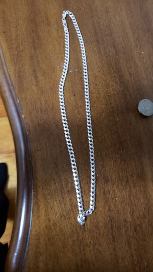 Real 925 Italy cuban link chain from pagoda 24 inches for Sale in Lowell, MA