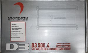 Diamond Audio D3 500.4 Open Box, Never Used for Sale in San Jose, CA