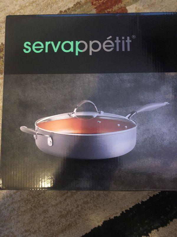 Servappetit copper 5qt sauteuse pan