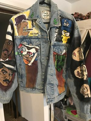 The mask themed hand painted jacket for Sale in Philadelphia, PA