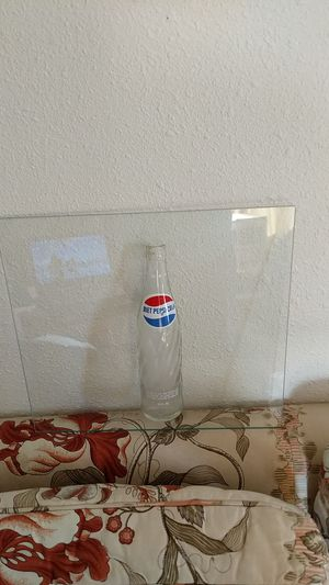 """Diet Pepsi half bottle glued to 1/4 """" glass for Sale in Wenatchee, WA"""