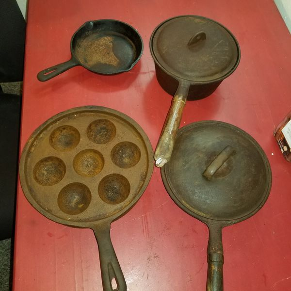 Made in Taiwan vintage cast iron cookware