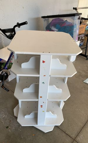 Bookcase spinning White for Sale in Akron, OH