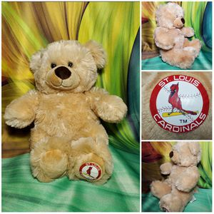 """13"""" Build A Bear St Louis Cardinals Plush Baseball Teddy 2010 for Sale in Dale, TX"""