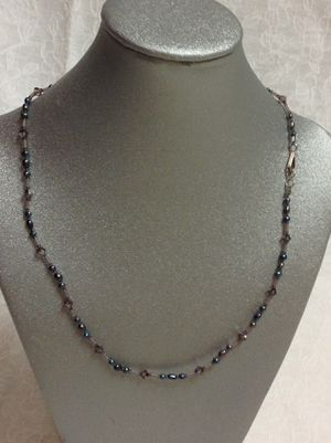 New Black pearl and Bead hand made minimalist necklace for Sale in Poulsbo, WA