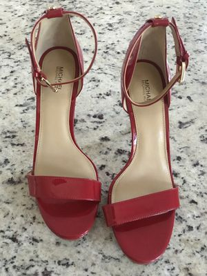 Size 9.5 Michael Kors Red High Heels for Sale in Austin, TX