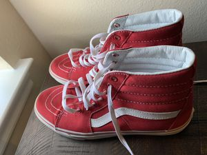 red high top vans (size 10) for Sale in Arlington, TX