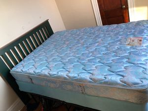 Full Size Bed, box spring, head board, mattress and frame for Sale in Chestnut Hill, MA
