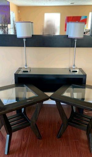 LIVING ROOM SET, TABLES + LAMPS for Sale in Rockville, MD