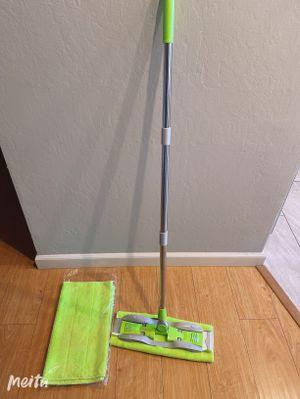 Microfiber Hardwood Floor Mop Stainless Steel Handle & Reusable Mop Pads Wet/Dry Floor Cleaning for Sale in Milpitas, CA