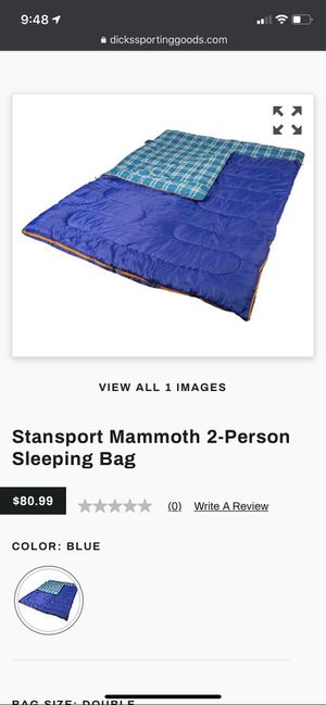 Mammoth 2-person sleeping bag, Stan sport, blue for Sale in Inglewood, CA