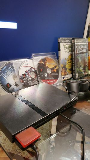 Ps2 with five games, memory card 8mb, cables and control for Sale in Zephyrhills, FL