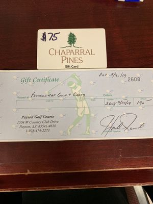 Payson golf course certificates. Total 275$ for Sale in Payson, AZ