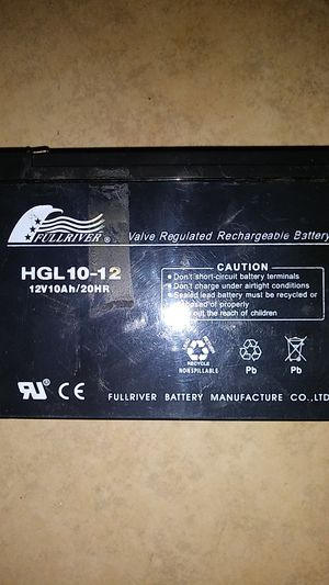 Fullriver HGL10-12 Rechargeable Battery (for a Scooter originally) for Sale in Tempe, AZ