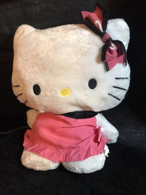 Large Hello kitty plush stuffed bear! Pink dress and bow! for Sale in Savannah, GA