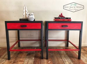 Pair of End Tables - Featured by Annie Sloan for Sale in Sterling, VA