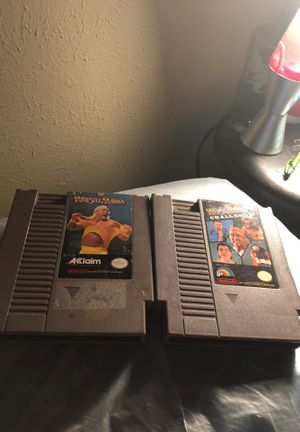 WWF Wrestlemania and Wrestlemania Challenge for NES for Sale in Fort Worth, TX