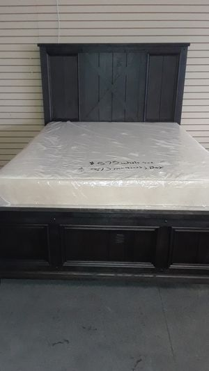 Queen bed frame with mattress and box spring for Sale in Birmingham, AL