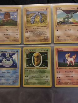 1st Edition Shadowless Base Set Pokemon Cards for Sale in Sacramento,  CA