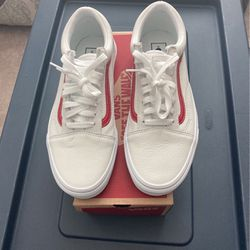 Men's Leather White vans for Sale in Raleigh,  NC
