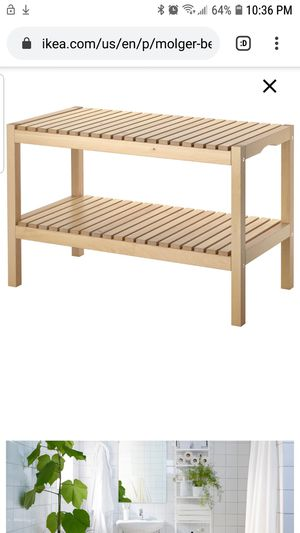 ikea molger birch wood bench for Sale in Washington, DC