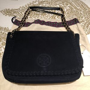 Tory Burch Marion Suede Flap Shoulder Bag for Sale in Irvine, CA