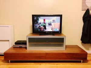 Two-piece TV stand with storage! for Sale in Jersey City, NJ