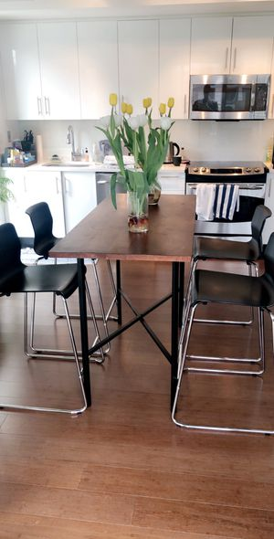 High dining table with four bar chairs for Sale in Washington, DC