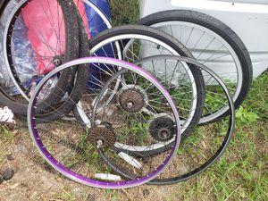 "26"" various wheels and 24"" set schwinn wheels for Sale in Wimauma, FL"